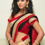 telugu_actress_pavani_black_red_saree_hot_stills_61608bc