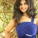 Actress Alekhya Latest Cute Hot Exclusive Blue Dress Spicy Photos Gallery At Elegance Shoppe Expo Launch (3)