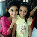 keerthi suresh with cute baby