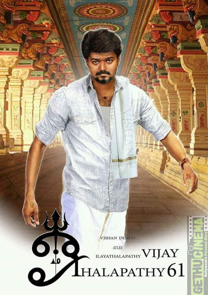 Thalapathy 61 Movie Hd Fan Made Design Poster Specially For Vijay