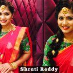 Shruti Reddy 2017 saree pics (1)
