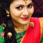Shruti Reddy 2017 saree pics (8)