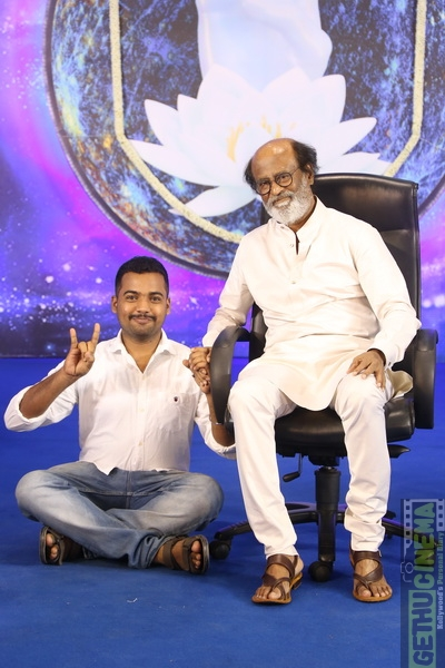 Superstar Rajinikanth Fans Meet HD Images  Gethu Cinema