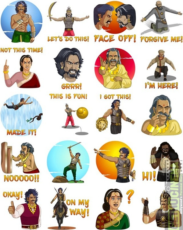 baahubali stickers