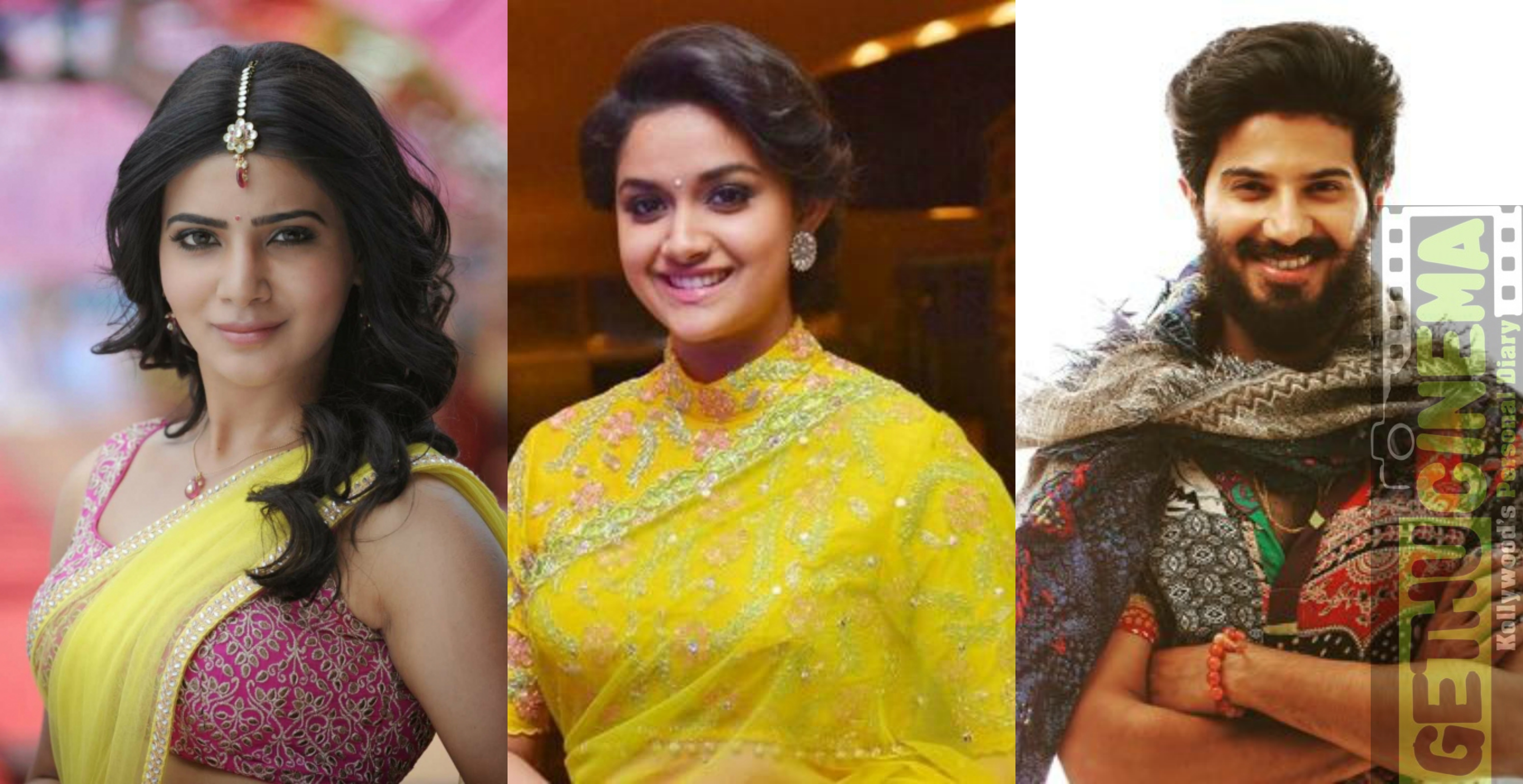 Samantha Ruth Prabhu, KeerthySuresh and Dulquer Salmaan Savithri biopic mahanathi