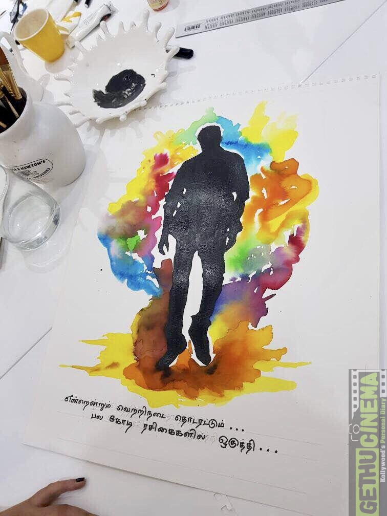 keerthy suresh art 1 ilayathalapathy vijay birthday gift