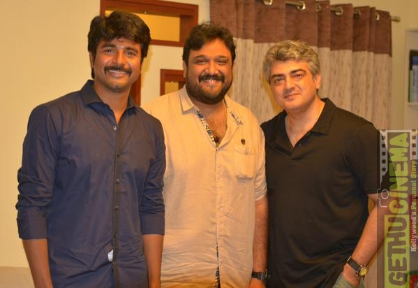 sivakarthikeyan with siruthai siva and ajith kumar