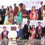 Vishal sister Aishwarya's Wedding Reception photos Gallery