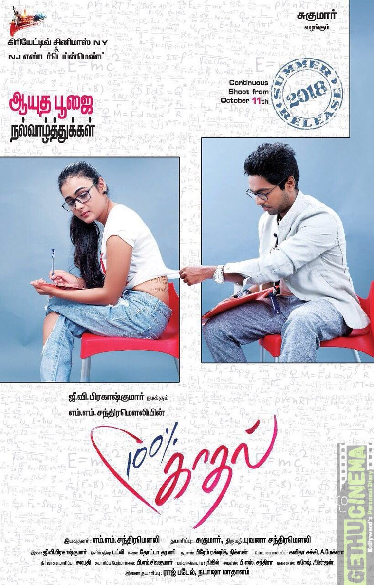 100% Kaadhal (Aka) 100 Percent Kadhal Movie First Look Poster  (3)