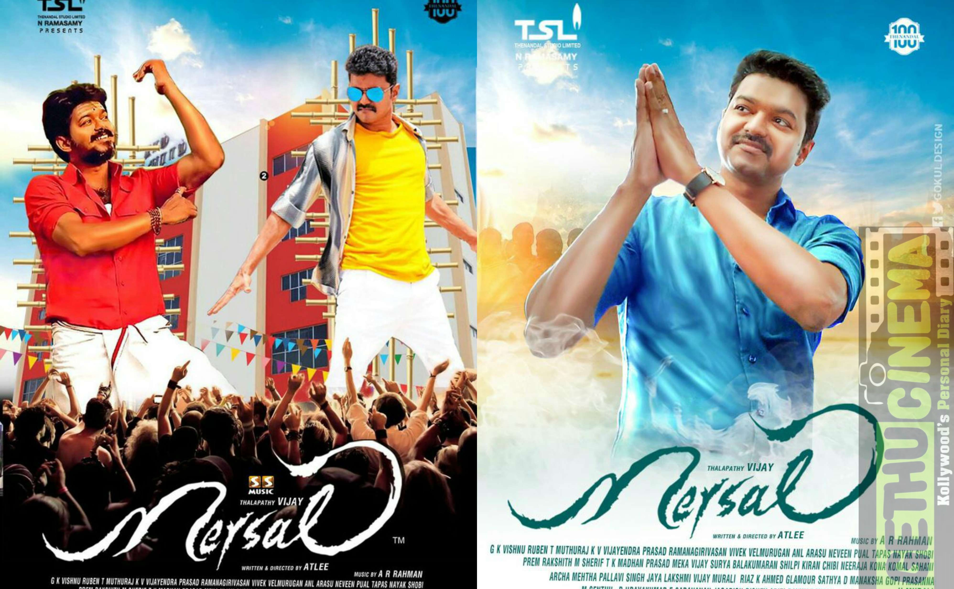Mersal Tamil Movie Hd Fan Made Design Posters Specially For Vijay