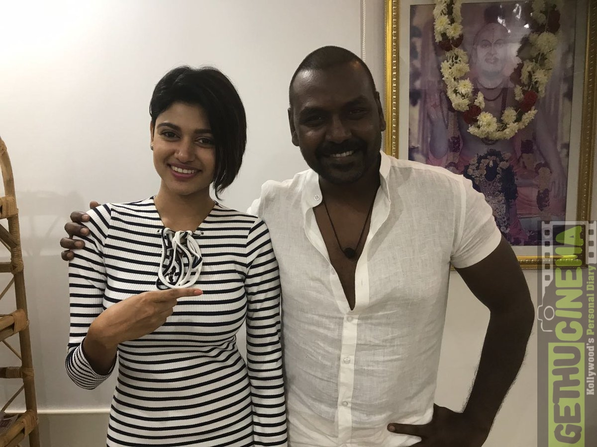 oviya and Raghava Lawrence