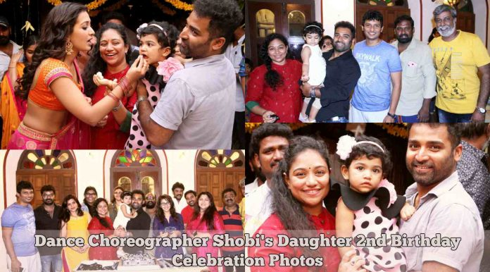 Dance Choreographer Shobi's Daughter 2nd Birthday Celebration Photos
