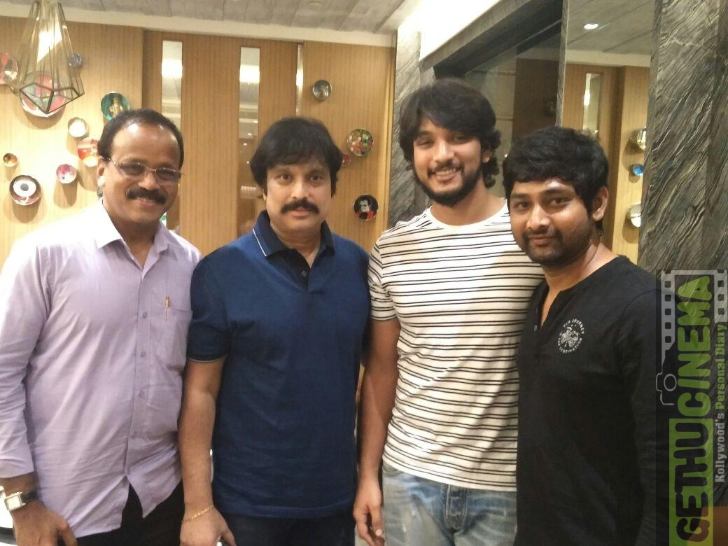 gautham karthik with karthik and thiru