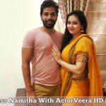 Actress Namitha With ActorVeera HD Photos