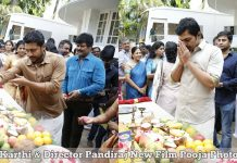 Karthi New Film Pooja Photos