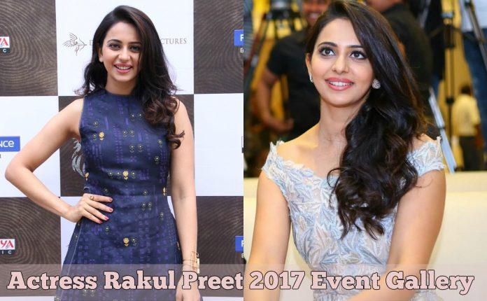 Actress Rakul Preet 2017 Event Stillls
