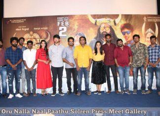 Oru Nalla Naal Paathu Solren Press Meet Photos