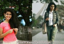 Priya P Varrier HD Photos
