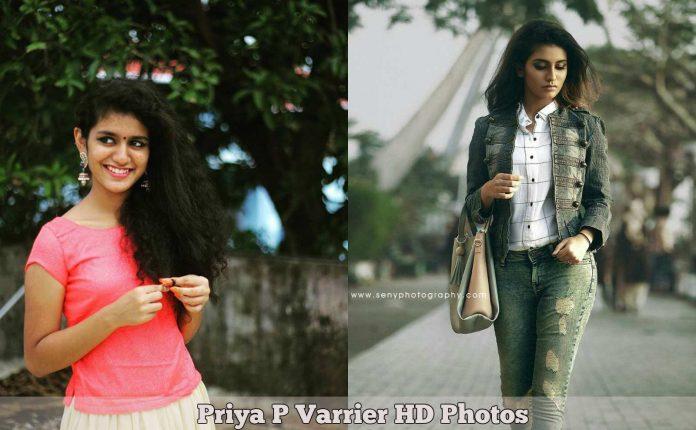 Priya P Varrier HD Photos