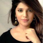 Aathmika, black dress, hair style