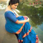 Aathmika, traditional look, shy