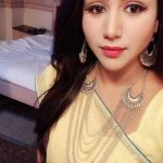 Alya Manasa, full makeup, yellow saree