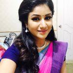 Alya Manasa, pink saree
