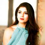 Amritha Aiyer, blue colour, hair style