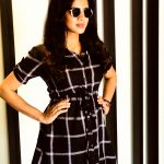 Anjana Rangan, black dress, coolers