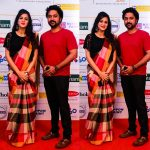 Anjana Rangan, red dress, husband