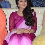 Anupama Parameswaran, Krishnarjuna Yudham press meet, event, Pink saree,