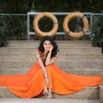 Anupama Parameswaran, orange colour dress, wallpaper, photoshoot