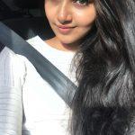 Anupama Parameswaran, selfie, car, hair style