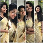 Anupama Parameswaran, traditional look, hd, collage