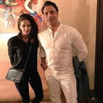 Hindi Medium actress pakistani saba qamar zaman  black dress with shoaib akhtar in white(26)