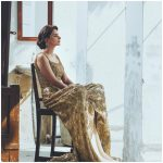 Hindi Medium actress pakistani saba qamar zaman  golden lehenga chair sitting (29)
