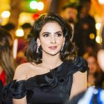 Hindi Medium actress pakistani saba qamar zaman  in black designer dress at award function(12)