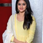 Keerthy Suresh, Nadigaiyar thilagam Press Meet, Yellow Dress