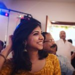 Madonna Sebastian, yellow, smile