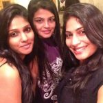 Niranjani Ahathian (21) vijayalakshmi selfie party black dress