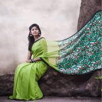 Niranjani Ahathian (4) green saree model pic