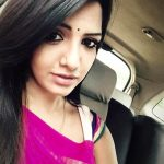 Pavani Reddy, selfie, car