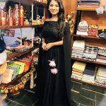 Sharanya Turadi, black dress