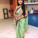 Sharanya Turadi, green saree