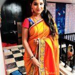Sharanya Turadi, orange saree
