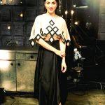 Shruti Haasan, black & white dress, full size