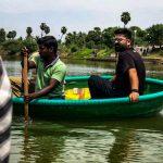 Simbu, str, boat riding