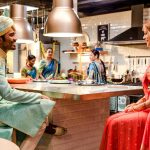 The Extraordinary Journey of the Fakir, Dhanush, night dinner, diffrent dress