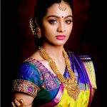 gayathrie, pattu saree, latest, cute