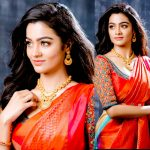 gayathrie, red saree, photo shoot